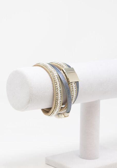 Women's Magnetic Wrap Bracelet, SILVER, hi-res