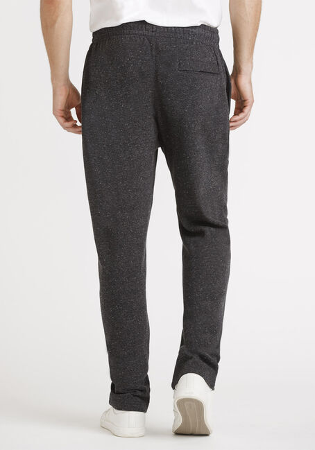 Men's Open Cuff Fleece Pant, BLACK, hi-res