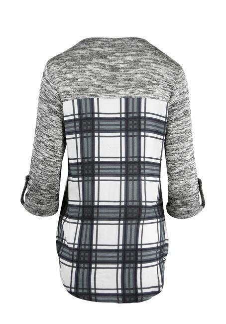 Ladies' Plaid Roll Sleeve Shirt, MINT, hi-res
