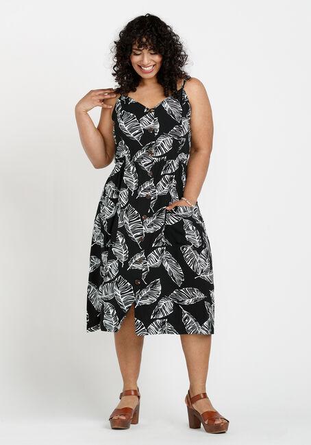 Women's Palm Leaf Midi Dress