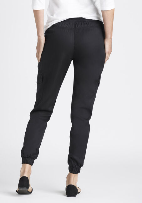 Ladies' Cargo Joggers, BLACK, hi-res