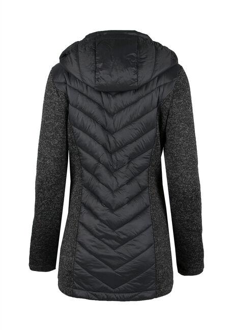 Ladies' Quilted Jacket, CHARCOAL, hi-res