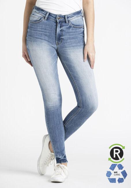 Women's Light Wash High Rise Skinny Jeans