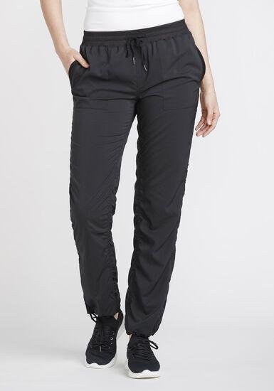 Women's Ruched Pant, BLACK, hi-res