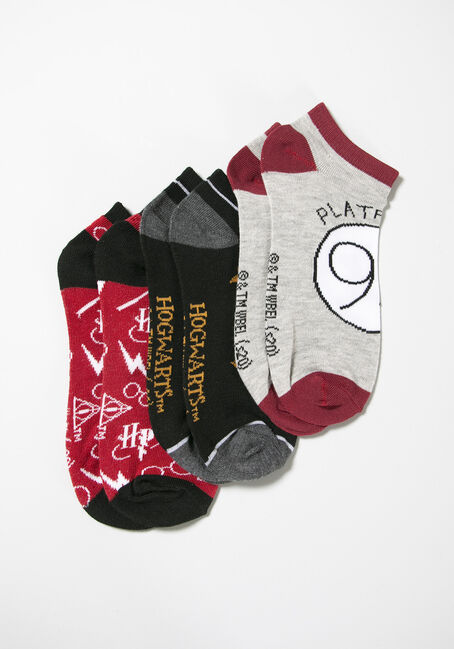 Women's Harry Potter 3pk Ankle Socks