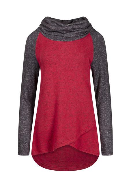 Women's Cowl Neck Colour Block Top