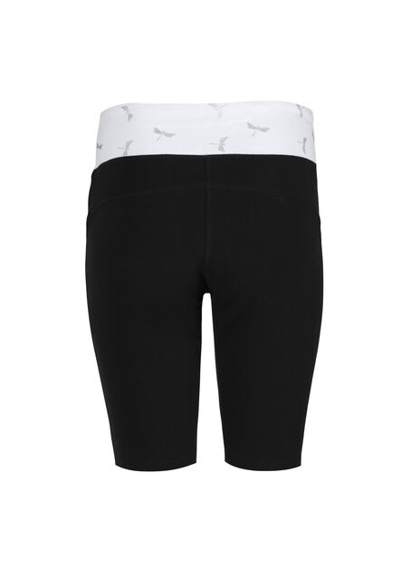 Women's Dragonfly Biker Short, BLACK, hi-res
