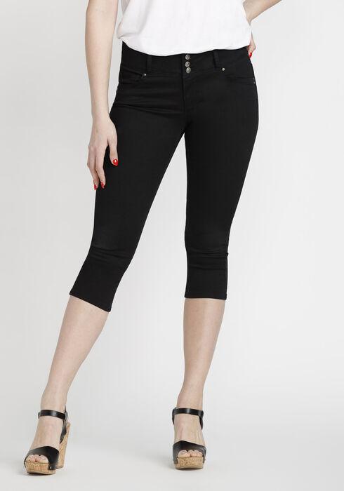 Women's Skinny Capri, BLACK, hi-res