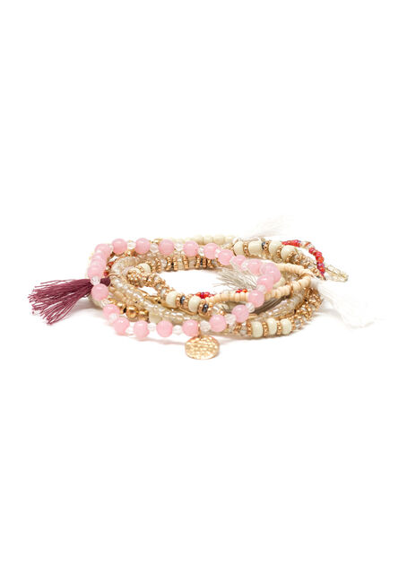 Women's 7 Pair Stretch Bracelet Set