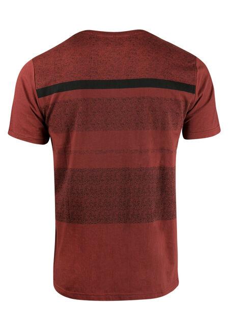 Men's Stripe Henley Tee, CHILI, hi-res