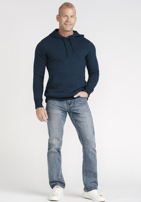 Men's Washed Classic Hoodie, NAVY, hi-res