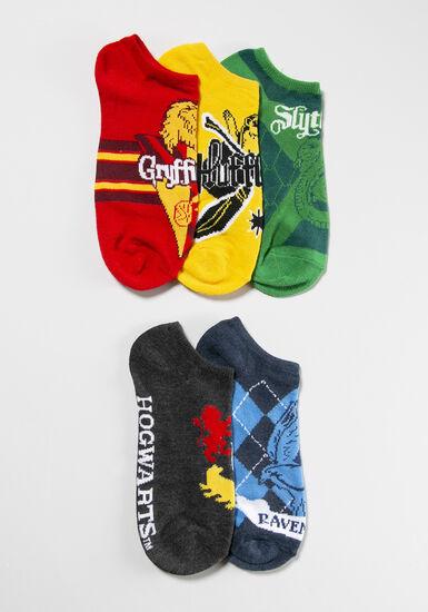 Women's 5 Pair Harry Potter Socks, MULTI, hi-res