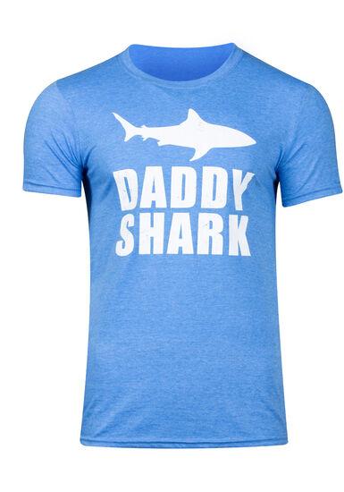 Men's Daddy Shark Graphic Tee, HEATHER ROYAL, hi-res