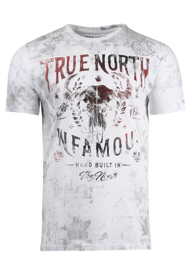 Men's True North Tee, WHITE, hi-res
