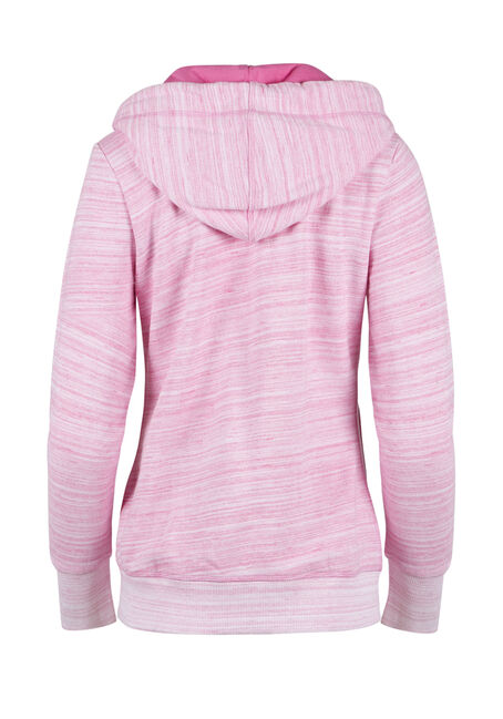 Ladies' Space Dye Hoodie, RASPBERRY, hi-res
