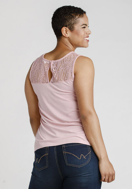 Women's Lace Sweetheart Tank, DUSTY PINK, hi-res