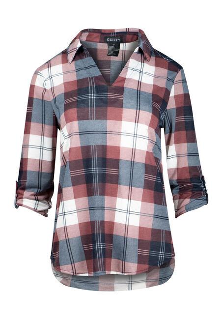 Women's Plaid Popover Shirt