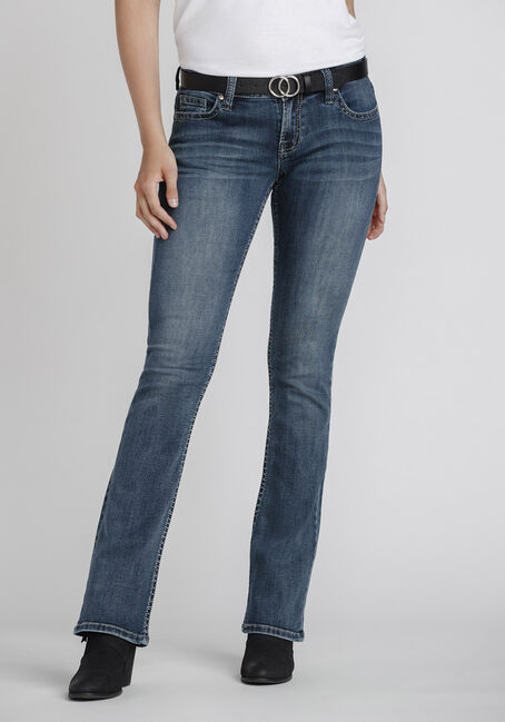 Women's Mid Wash Bootcut Jeans