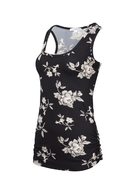 Women's Floral Super Soft Tank, BLACK FLRL, hi-res