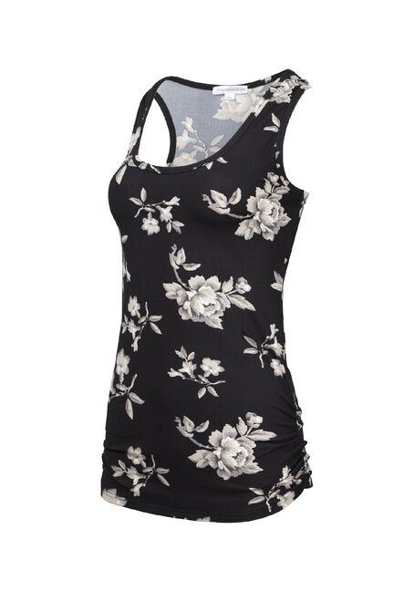 Women's Floral Super Soft Tank, BLACK FLRL, hi-res