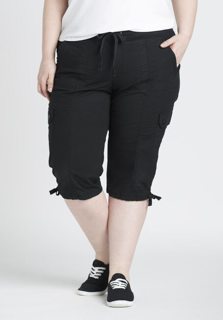 Ladies' Plus Size Cargo Capri