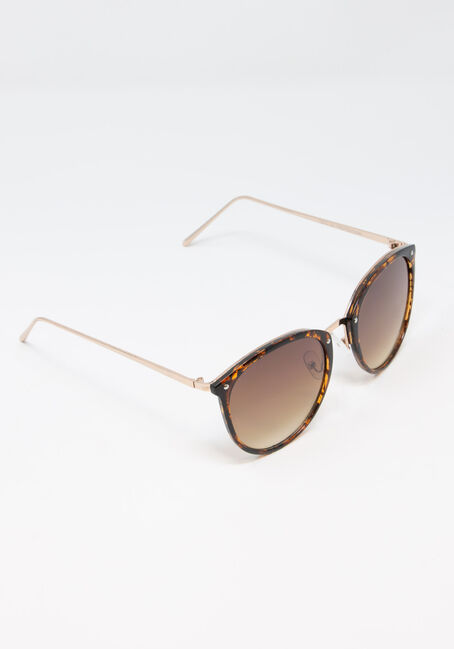Women's Tortoise Shell Sunglasses, BROWN, hi-res
