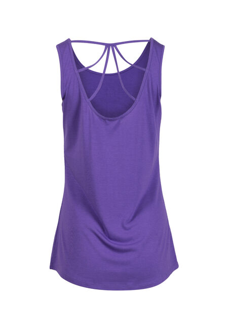 Women's Moon Cage Back Tank, VIOLET, hi-res