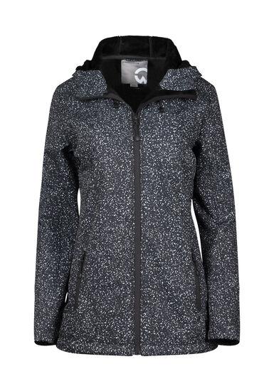 Women's Speckle Softshell Jacket, BLACK, hi-res