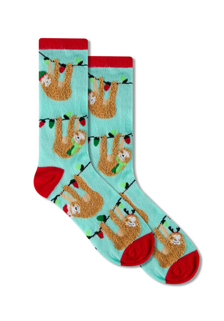 Ladies' Festive Hanging Sloths Socks