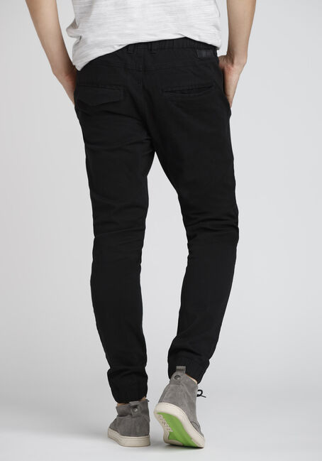 Men's Stretch Twill Moto Jogger, BLACK, hi-res