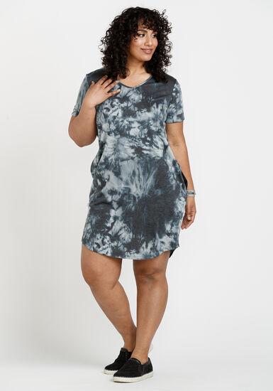 Women's Tee Shirt Dress, BLACK, hi-res