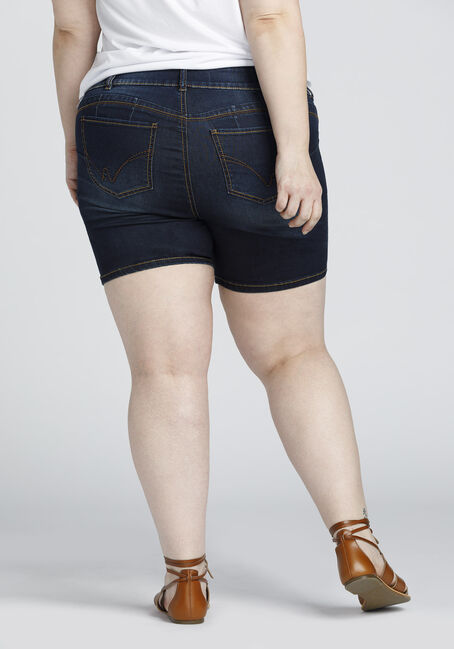 Ladies' Plus Size Mid Length Short, DARK VINTAGE WASH, hi-res