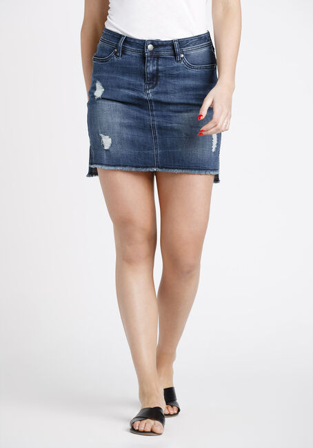 Women's Step Hem Denim Skirt