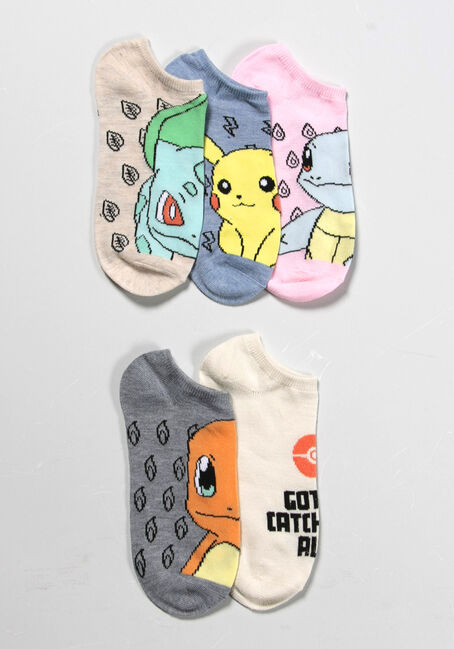 WOMEN'S 5 PAIR POKEMON SOCKS