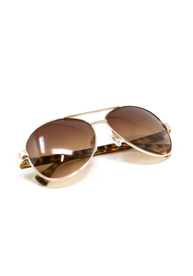 Women's Aviator Sunglasses, BROWN, hi-res
