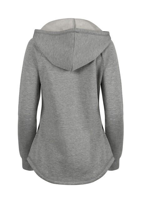 Ladies' Lace Reindeer Hoodie, HEATHER GREY, hi-res
