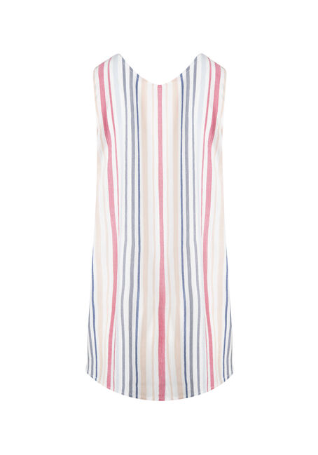 Women's  Stripe Tunic Tank, WHITE, hi-res
