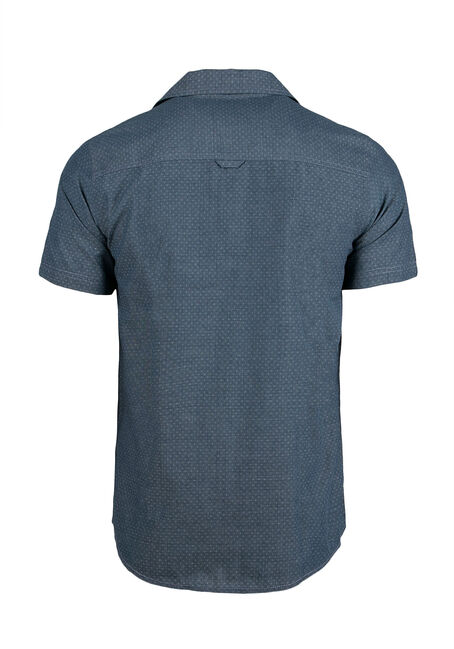Men's Textured Shirt, Navy, hi-res