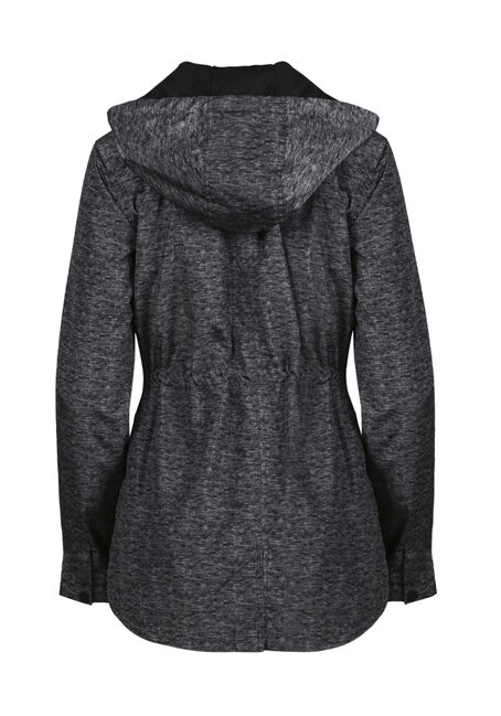 Women's Hooded Anorak Jacket, CHARCOAL, hi-res