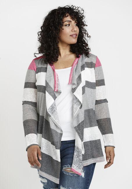 Women's Stripe Slub Cardigan