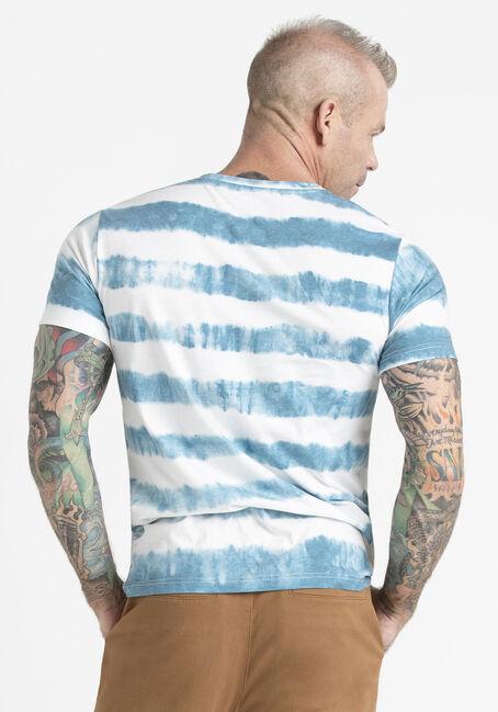 Men's Stripe Tie Dye Tee, ROYAL BLUE/WHITE, hi-res