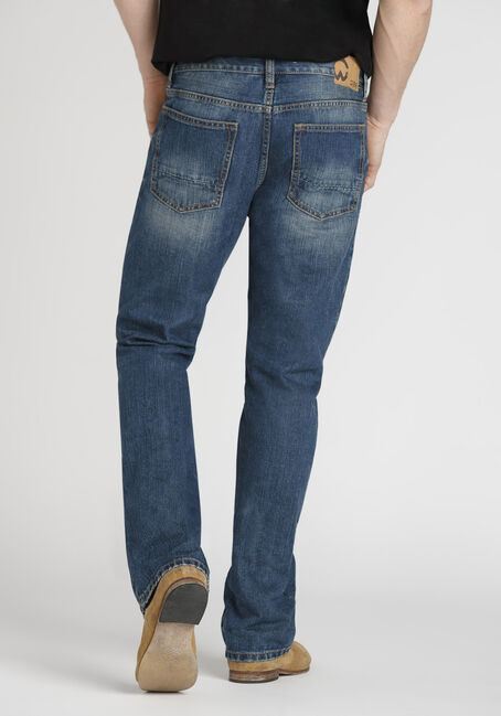 Men's Performance Classic Bootcut Jeans, MEDIUM WASH, hi-res