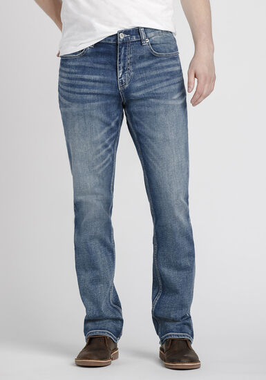 Men's Classic Bootcut Jeans, MEDIUM WASH, hi-res