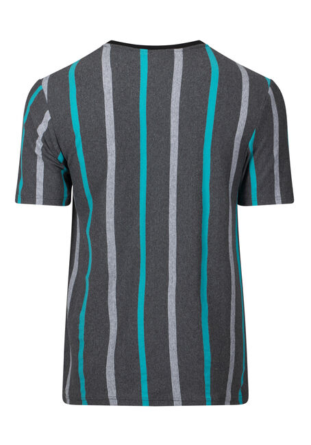 Men's Striped Tee, CHARCOAL, hi-res