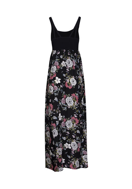 Women's Floral Maxi Dress, BLACK, hi-res