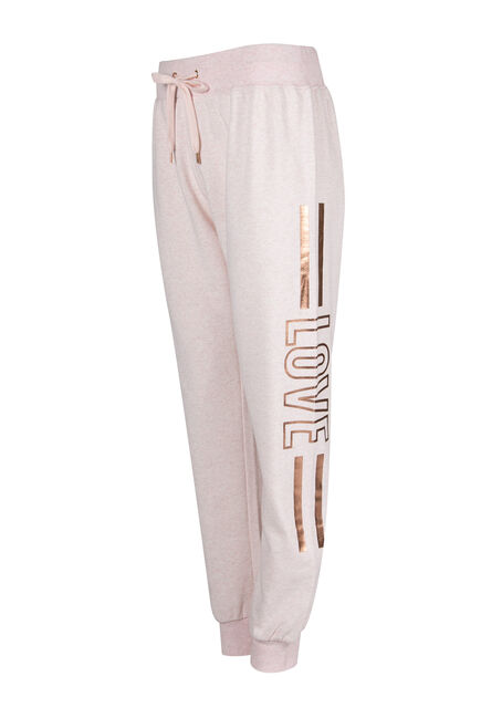 Women's Love Jogger, HEATHER PINK, hi-res