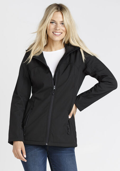 Ladies' Softshell Jacket, BLACK, hi-res