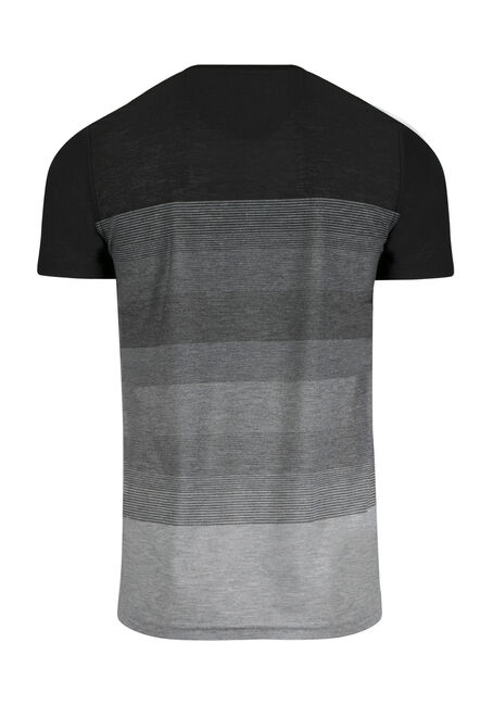 Men's Everyday Ombre Stripe Tee, BLACK, hi-res