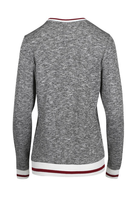 Ladies' Cabin Crew Neck Fleece, HEATHER GREY MIX, hi-res