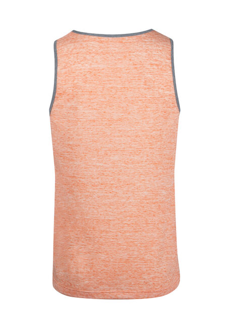 Men's Everyday Pocket Tank, BRIGHT ORANGE, hi-res